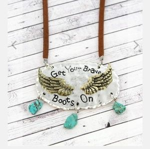 Jewelry - Brave boots necklace